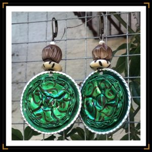 Zafricaines boucles capsulesdecafe verte bronze