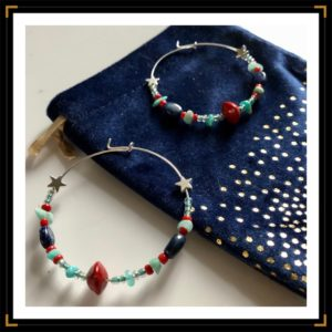 créoles lapi lazuli et amazonite