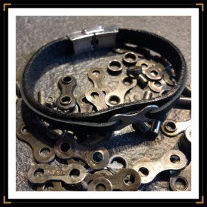 Zinavoues bracelet personnalisable chaine de velo