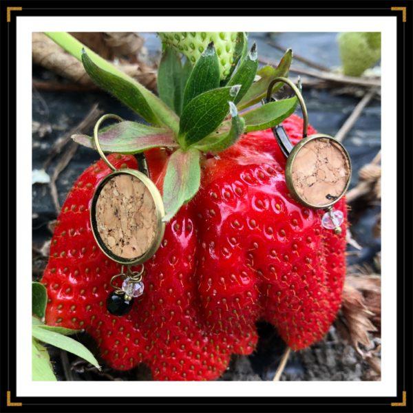 Zephemeres duo bo bronze fraise