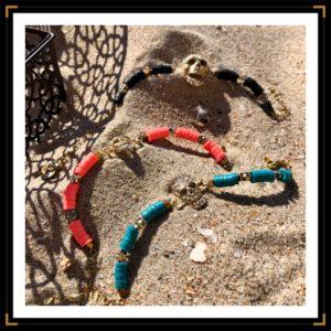 bracelet skull strass couleurs