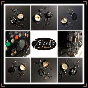 Zenjoleuses BO pinup acierinox mosaique noir